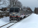 New Jersey Transit ACES at Hammonton, NJ on Feb 13, 2010