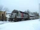 New Jersey Transit 4203 at Hammonton, NJ on Jan 13, 2010.