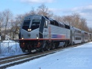 New Jersey Transit 4001 at Hammonton, NJ on Feb 27, 2010