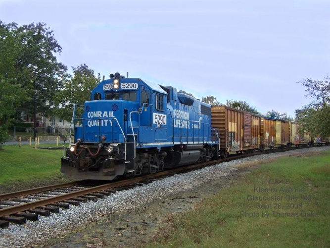 CA-05 on the Grenloch Industrial Track at Klemm Ave in Gloucester City NJ on Sept 26, 2008.