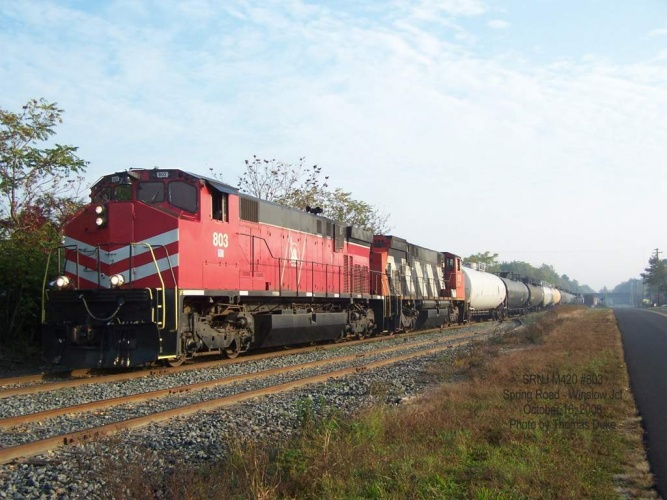 SRNJ 803 and 3578 switching at Winslow Jct on October 16, 2008.