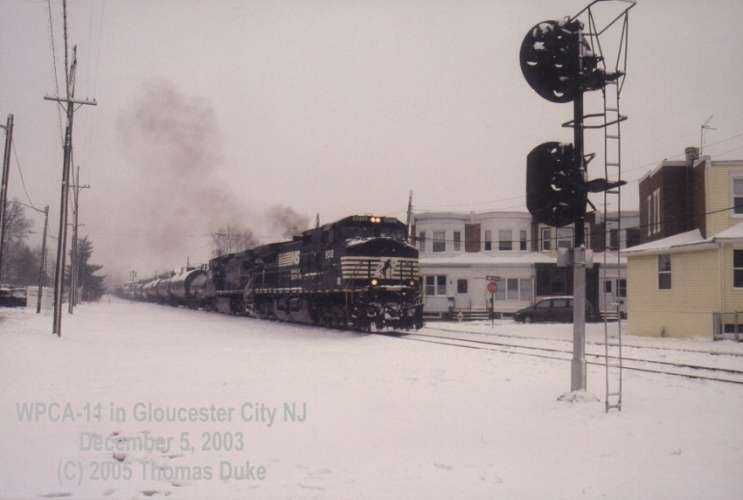 CA-11 at Gloucester City in 2003.  By Tom Duke.