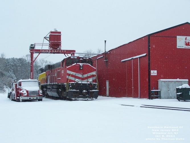SRNJ 803 at Winslow Jct, NJ on Jan 8, 2011