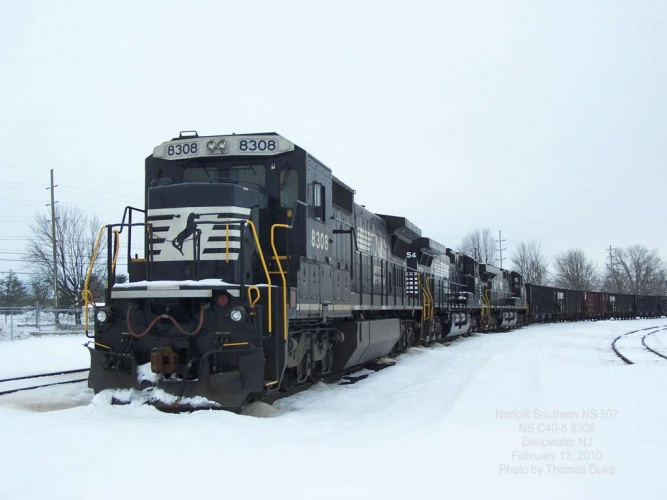 NS 507 at Deepwater Feb 13, 2010