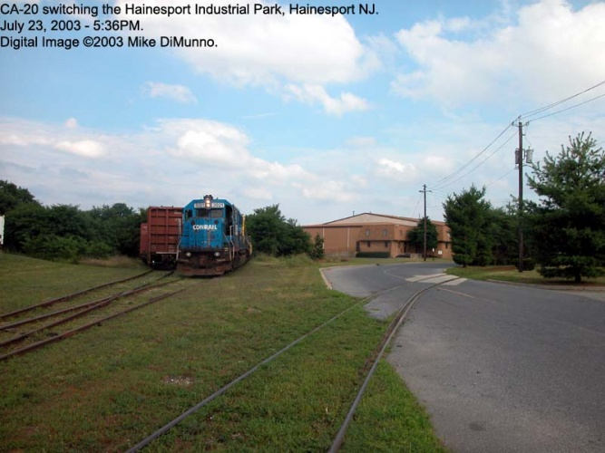 CA-20 switching the Hainesport Industrial Track.