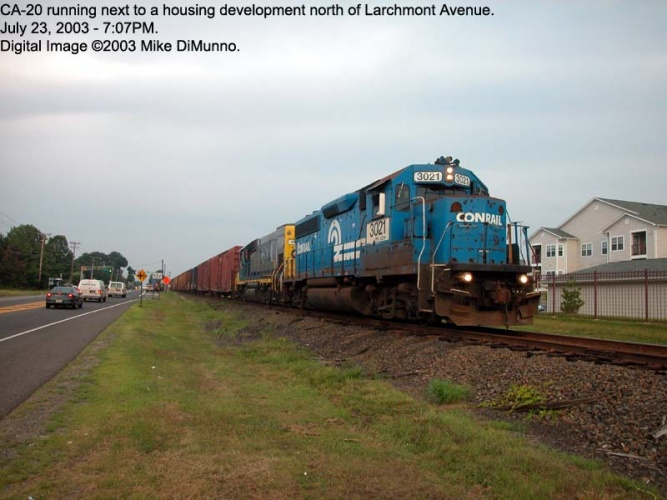 CA-20 northnound at Larchmont Ave, Mt. Holly.