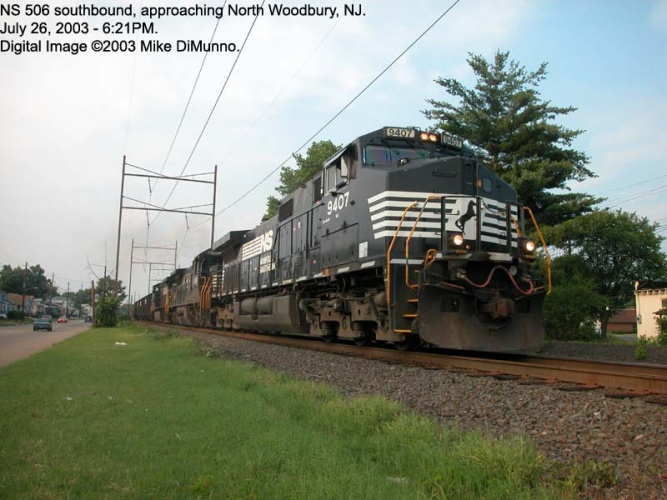 NS 506 at North Woodbury, NJ.