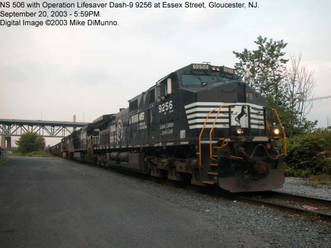 NS 506 coal train at Essex Street, Gloucester NJ.