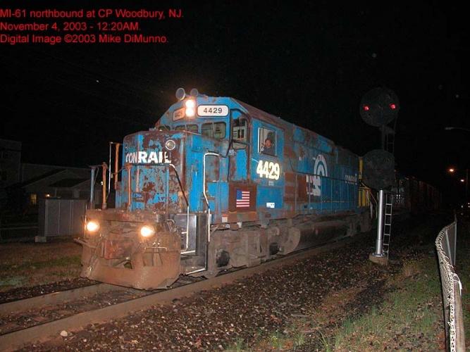 MI-61 northbound at Woodbury, NJ.