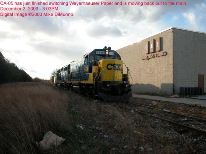 CA-05 power reversing in the Bellmawr Industrial Park.