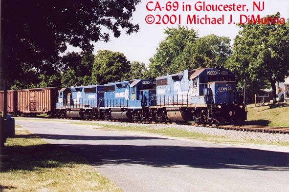 CA-69 northbound at Gloucester City, NJ.