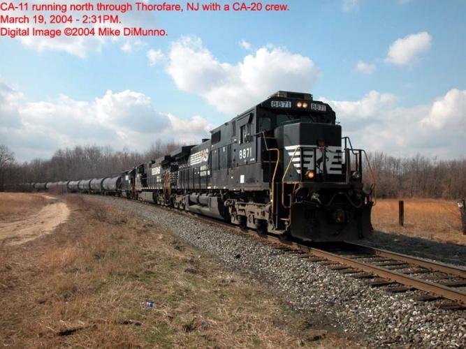 CA-11 northbound through Thorofare, NJ.