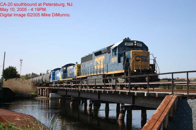CA-20 crossing the bridge at Petersburg.