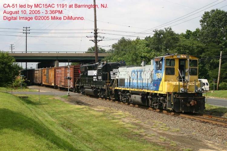 CA-51 with an MP15AC at Barrington NJ.