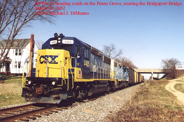 WPPA-21 southbound at Gibbstown, NJ.