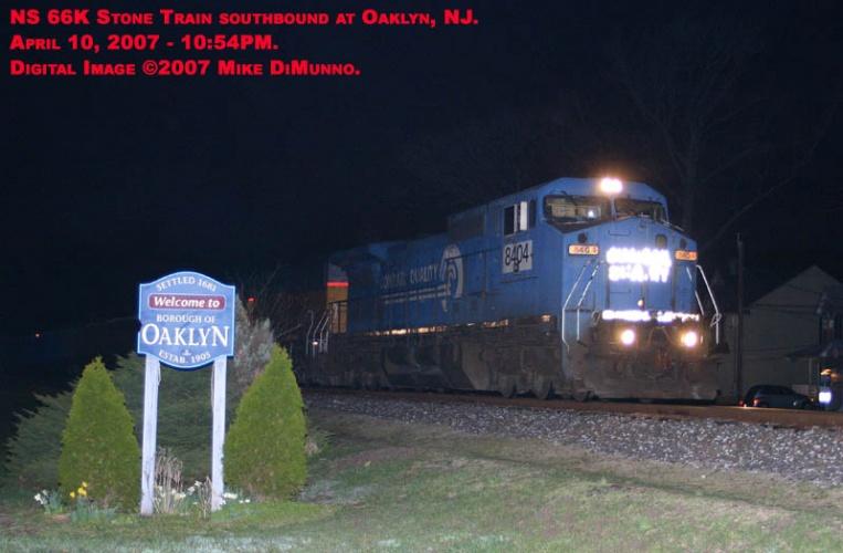 NS 66K at Oaklyn on April 10, 2007.