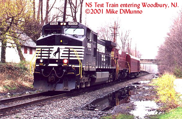 NS Geometry Train at Woodbury, NJ.