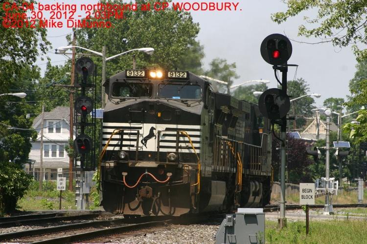 Light engines of CA-04 at CP WOODBURY, NJ.