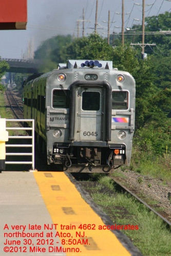 NJT train 4662 at Atco, NJ.