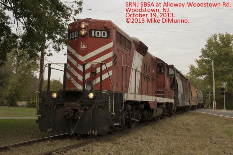 SRNJ SBSA crosses Alloway-Woodstown Rd on October 19, 2013.